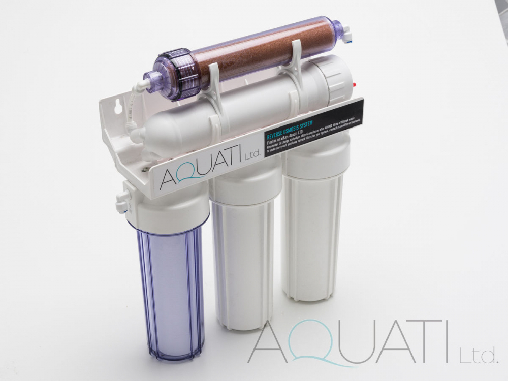 4 Stage Reverse Osmosis Full Replacement Filters & Di Resin 3x 100gpd Membranes Reverse Osmosis & Deionization Fish & Aquariums