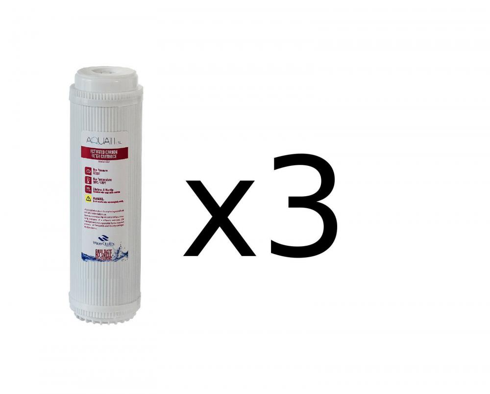 """5x cartucho de filtro de agua activados coco carbón de cáscara GAC reemplazo 10/"""" RO"""